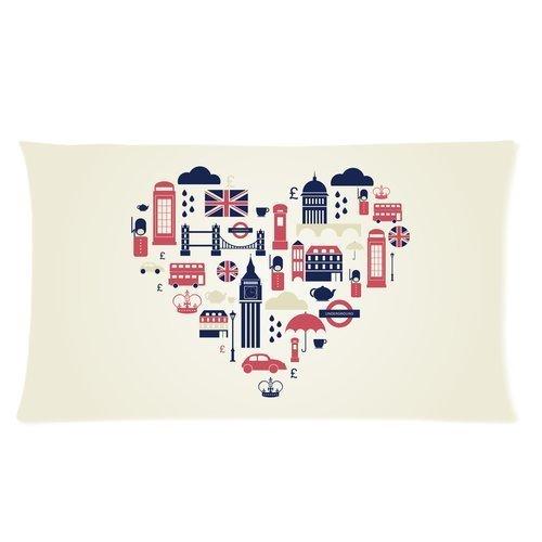 london-bus-big-ben-and-tower-bridge-uk-flag-london-fog-custom-rectangle-bed-pillow-cases-20x36-twin-