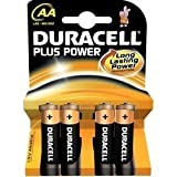 2 X Pack of 4 AA Duracell Battery Plus Alkaline 1.5V LR6 / Mn1500 (8 AA Batteries) - Size AA