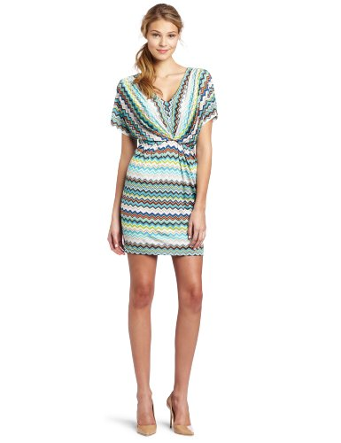 Trina Turk Women's Pebble Zig Zag Matte Jersey Dress, Multi, 8