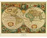 Trademark ART Old World Map Painting Artwork, X-Large
