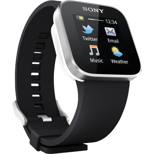 Sony Sony Designer Bluetooth Digital Black Dial Unisex Watch MN2SW (Orange)