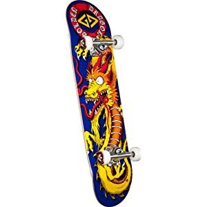 Powell Golden Dragon Caballero Art Complete Skateboard (8-Inch)