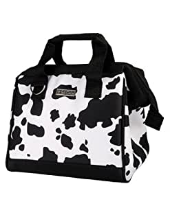 Sachi Cow Print Insulated Lunch Bag