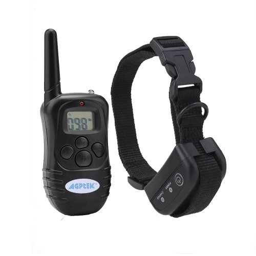 Agptek® Rechargeable Waterproof Wireless Lcd Digital Gog Training Shock Collar With 100Lv Of Shock And Vibration, Remote Control (Collar Waterproof)