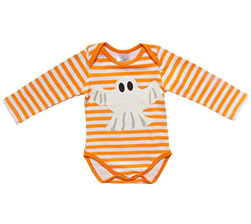 [So Sydney Baby Girl or Boy Long Sleeve Halloween Holiday Onesie Romper Costume (XL (18-24 Months), Ghost] (Ghost Pirate Costume)