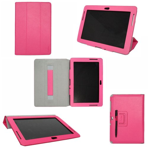 ProCase Samsung Galaxy Tab 2 10.1 Case - Slim Leather Folio Cover Case for Samsung Galaxy Tab 2 10.1 Inch Tablet GT-P5110 P5100 (Pink)