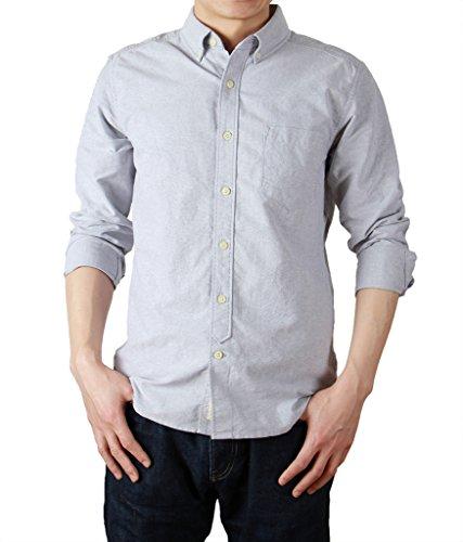 bii-free-camicia-casual-camicia-basic-con-bottoni-maniche-lunghe-uomo-grigio-xx-large