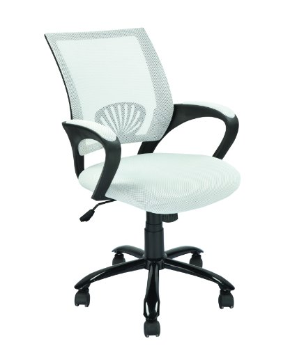 Mid Back Mesh Ergonomic White Computer Desk Office Chair O12 B00EF5GBAY A