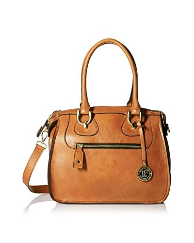 London Fog Women's Knightbridge Satchel, Cognac