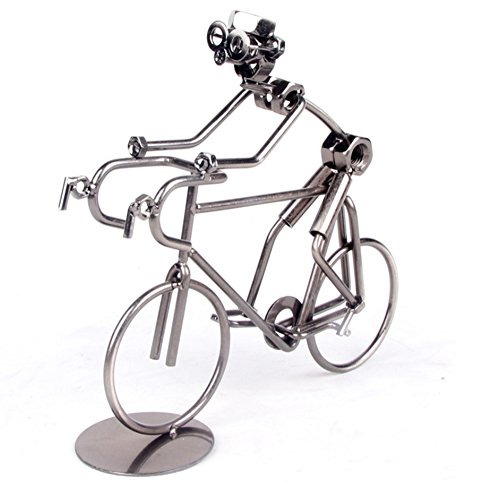 Berry President® Creative Hand Soldering Home Decor Cast Iron Wires and Screws Statue/figurine Bicycle Rider/bicycle Bike Race Handicraft Works 7.2'' (Cast Iron Bike compare prices)