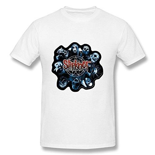 Men's Slipknot Tour Logo Cotton T-Shirt White 3X (New Slipknot Masks For Sale)