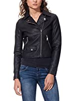OSLEY PARIS Chaqueta Biker With Pocket Detail (Negro)