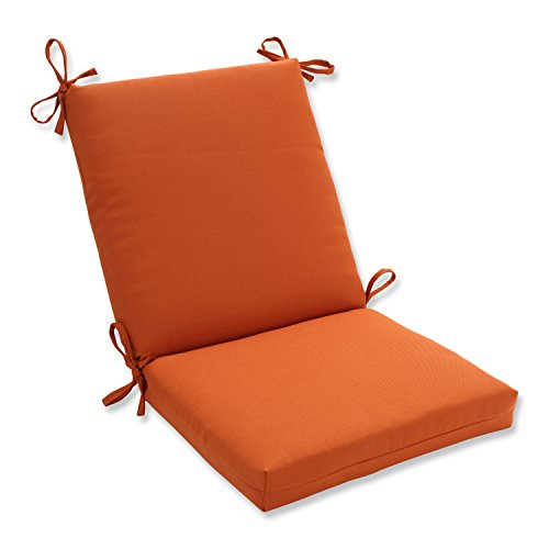 Pillow Perfect Indoor/Outdoor Cinnabar Squared Chair Cushion, Burnt Orange (Orange Outdoor Cushions compare prices)