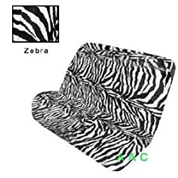 Universal-fit Animal Print Bench Seat Cover - Zebra
