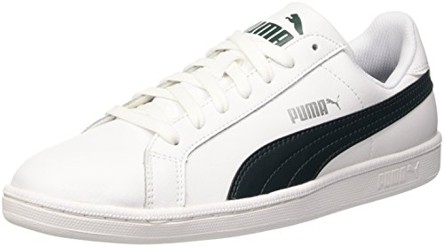 Puma Smash L, Scarpe da Ginnastica Basse Unisex Adulto, Bianco (White/Ponderosa Pine), 44 EU