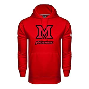 Miami University Under Armour Red Performance Sweats Team Hood, XX-Large, Volleyball