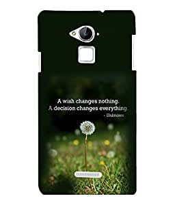 printtech Cool Quotes Life Back Case Cover for Coolpad Note 3 Lite Dual SIM with dual-SIM card slots