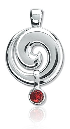 schmuck anh nger koru spirale 40mm 925 sterling silber fassung mit edelstein granat rot symbol. Black Bedroom Furniture Sets. Home Design Ideas
