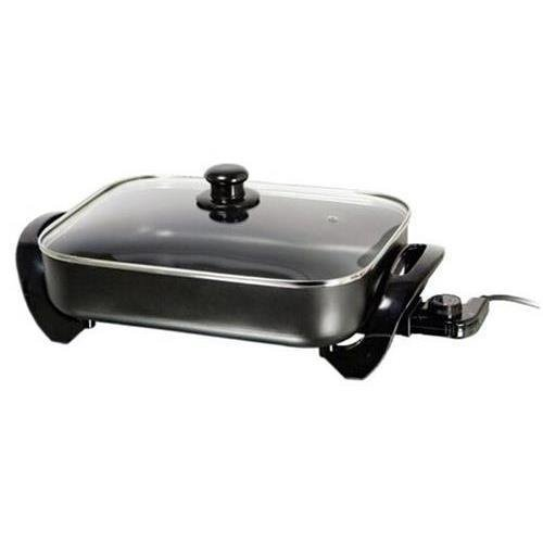 BRENTWOOD SK-75 Electric Skillet with Glass Lid (1,400W; 16″);