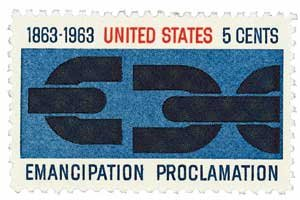 #1233 - 1963 5c Emancipation Proclamation U. S. Postage Stamp Plate Block (4)