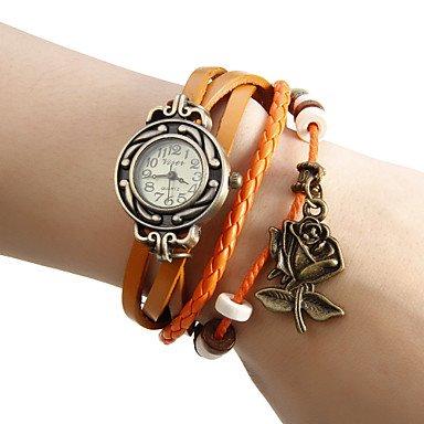 Fenkoo Da donna Quarzo Banda braccialetto Nero / Bianco / Rosso / Arancione / Marrone / Verde