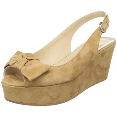 Butter Women's Seth Peep-Toe Platform,camel suede,5 M US