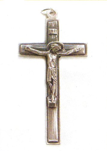 Small Crucifix - Latin Cross - Pendant - 2in. Height - IMPORTED FROM ITALY