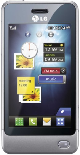 LG GD510 POP Smartphone (EDGE, MP3, 3 MP Kamera, Bluetooth ) silver