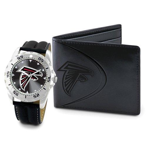 メンズ NFL アトランタ ハヤブサ 時計 & 財布 セット -