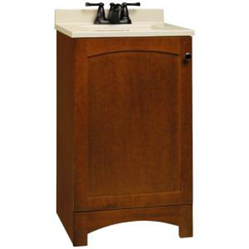 American Classics by RSI PPMELCHT18Y Melborn 18-Inch Vanity, Chestnut with Solid Surface Technology Vanity Top, Wheat