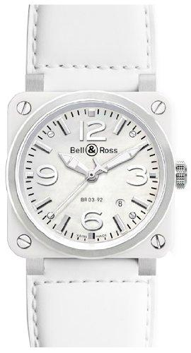 Bell & Ross Aviation Br03-92 Mens Watch Br03-White-Ceramic
