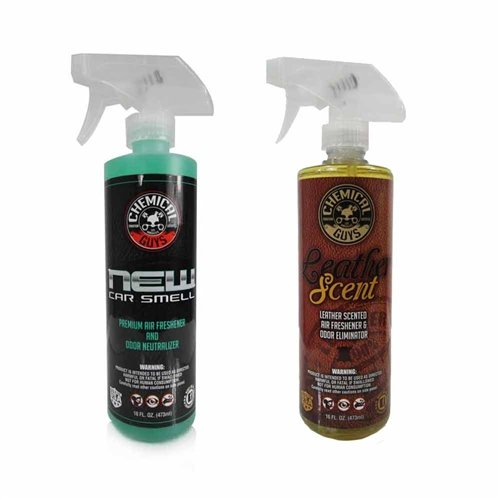 Chemical Guys - New Car Scent & Leather Scent Combo Pack (16 Oz) (2 Pack) front-431940