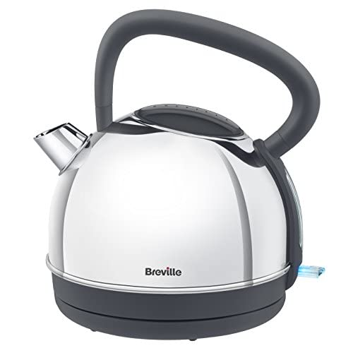 Breville VKJ775 Traditional Kettle with 1 Year Warranty, 1.7 Litre, Polished Stainless Steel