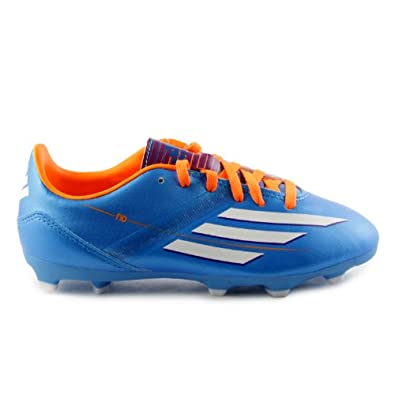Buy Adidas F10 TRX FG Junior Soccer Cleats Shoes - Solar Blue (Little Kid Big Kid) by adidas