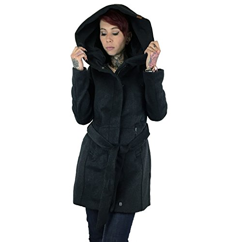 khujo -  Giacca  - Parka - Basic - Collo mao  - Maniche lunghe  - Donna B12 charcoal-melange S