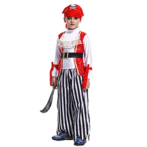 Children Kids Boys Pirates Cute Cosplay Masquerade Party Suit