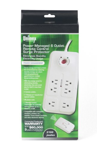 New 6 Power Outlet Surge Protector W/ Remote Control !!