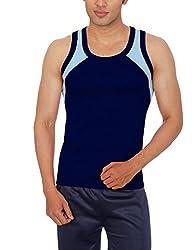 Sportee Men's Polyester Vest (Rtiv01Pp01B03_Navy_Small)