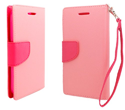 Mylife (Tm) Tropical Pink + Fuchsia Pink {Professional Design} Faux Leather (Card, Cash And Id Holder + Magnetic Closing) Slim Wallet For The All-New Htc One M8 Android Smartphone - Aka, 2Nd Gen Htc One (External Textured Synthetic Leather With Magnetic C