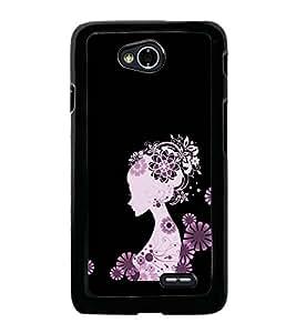 Girl Clipart 2D Hard Polycarbonate Designer Back Case Cover for LG L70