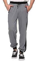 COLORS & BLENDS - M.Grey - Cotton Track Pants with Zipper cross-pocket - Size XL