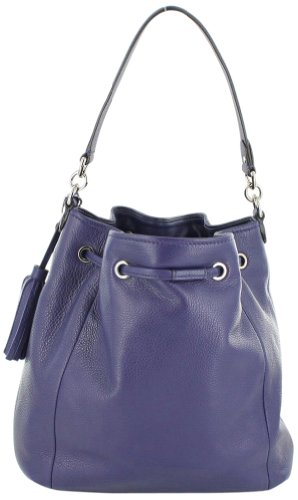 Coach   Avery Leather Drawstring Handbag F27003 Indigo / Purple