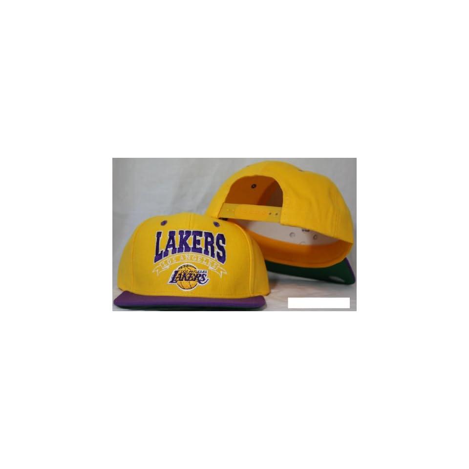 Los Angeles Lakers Snapback Yellow / Purple Two Tone