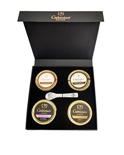 Calvisius Caviar Set of 4 50-Gram Tins in Gift Box As You See