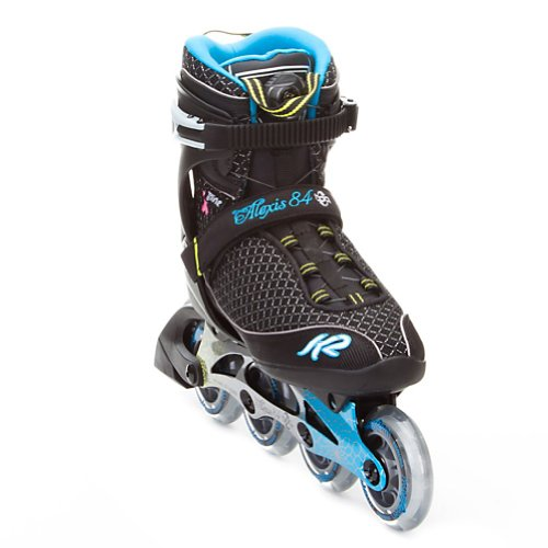 K2 Sports Women's Alexis 84 Boa Fitness 2012 Inline Skates (Black/Blue/Yellow, 8.5)