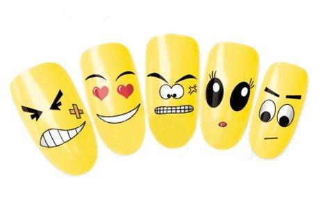 Come 2Buy-Nail Art Tatoo/Wrap trasferimento dell' acqua decalcomanie Funny/Angry/Shock Look/Happy Faces per Nail Art/Cell Phone Case/biglietti di invito decorazioni d?Cor