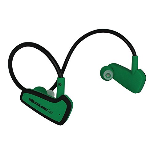 Click to buy SoundLogic XT® Wireless Bluetooth NFC In-Ear Active Sport Recoil Excercise Headphones for ANDROID, iPhone and other Smart Devices - Green - From only $34.69