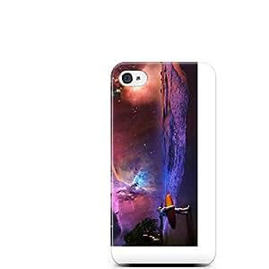 Motivatebox-Apple Iphone 4/4s cover-Atronaut Surfing Polycarbonate 3D Hard case protective back cover. Premium Quality designer Printed 3D Matte finish hard case back cover.