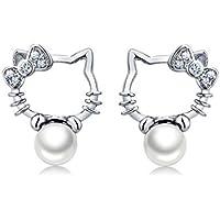 Tyzon 925 Hello Kitty Stud Earrings
