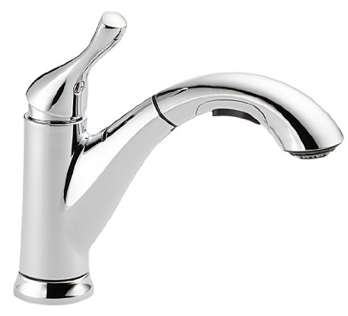 Delta Faucet 16953-DST Single Handle Pull-Out Kitchen Faucet, Chrome (Delta Grant Kitchen Faucet compare prices)